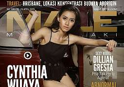 Cynthia Wijaya On Male Magazine Cover April