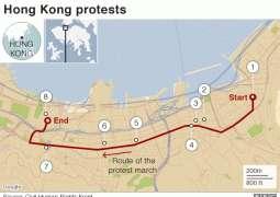 Unjuk rasa Hong Kong: Skala demonstrasi menentang RUU Ekstradisi dalam rangkaian foto