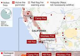 Korban Tewas Akibat Kebakaran Hutan California Terus Bertambah