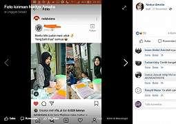 Bantu Bibi Jual Nasi Uduk, Gadis Cantik Ini Viral