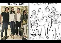 Meme Syahrini dan Luna Maya Beredar, Bikin Netizen Ngakak
