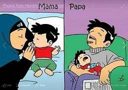 Meme Mama Vs Papa Ini Nyindir Banget, Penampakannya Bikin Netizen Ngakak