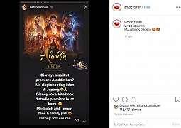 Mantap, Demi Sandra Dewi Tonton Film Aladdin, Disney Sewakan 1 Studio